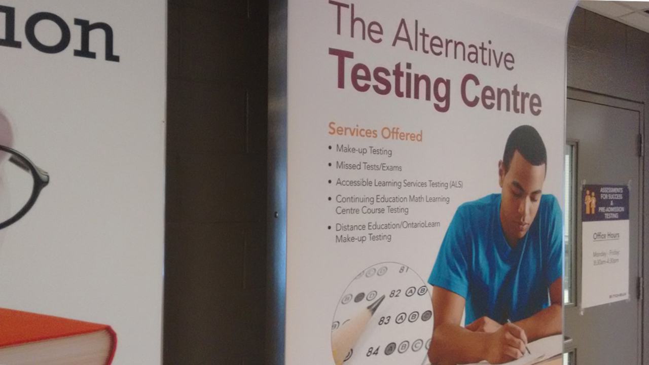 Alternative Testing Centre Sign