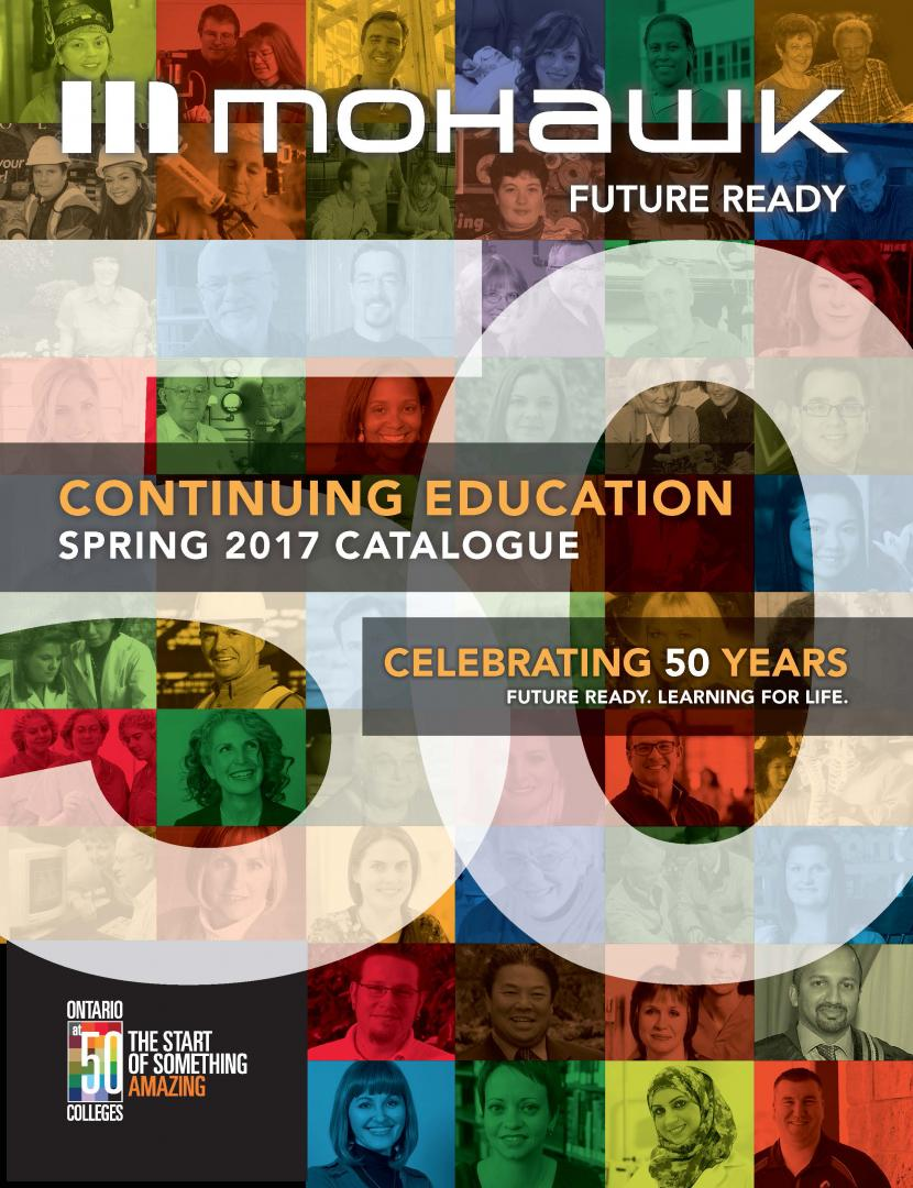 Mohawk College Continuing Education Catalogue Cover Spring 2017