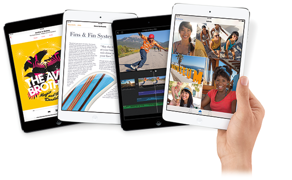 Various iPads with Different Apps Showing