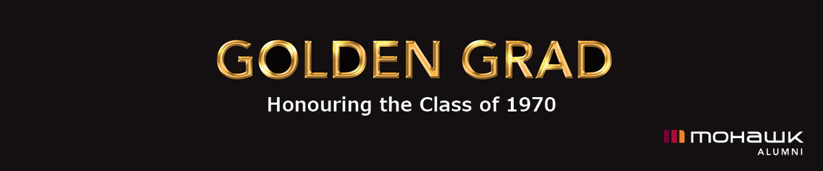 Golden grad - honouring the class of 1970 with Alumni logo
