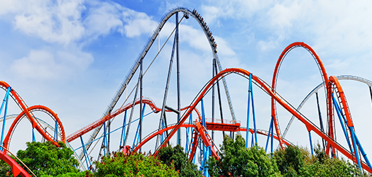 Rollercoaster at an amusement park