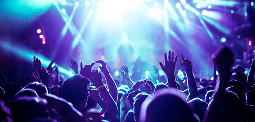 Crowd enjoying a live concert