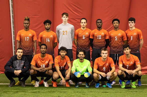Men's Varsity Indoor Soccer Team