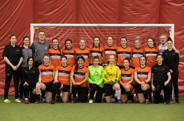 Mohawk College Women's Varsity Indoor Soccer Team