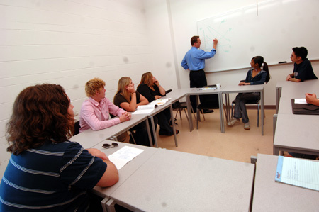 continuing education students in a classroom