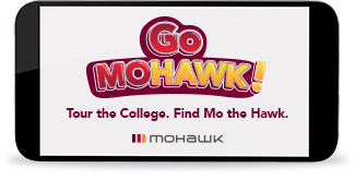 GoMohawk! Tour the college, find Mo the Hawk.