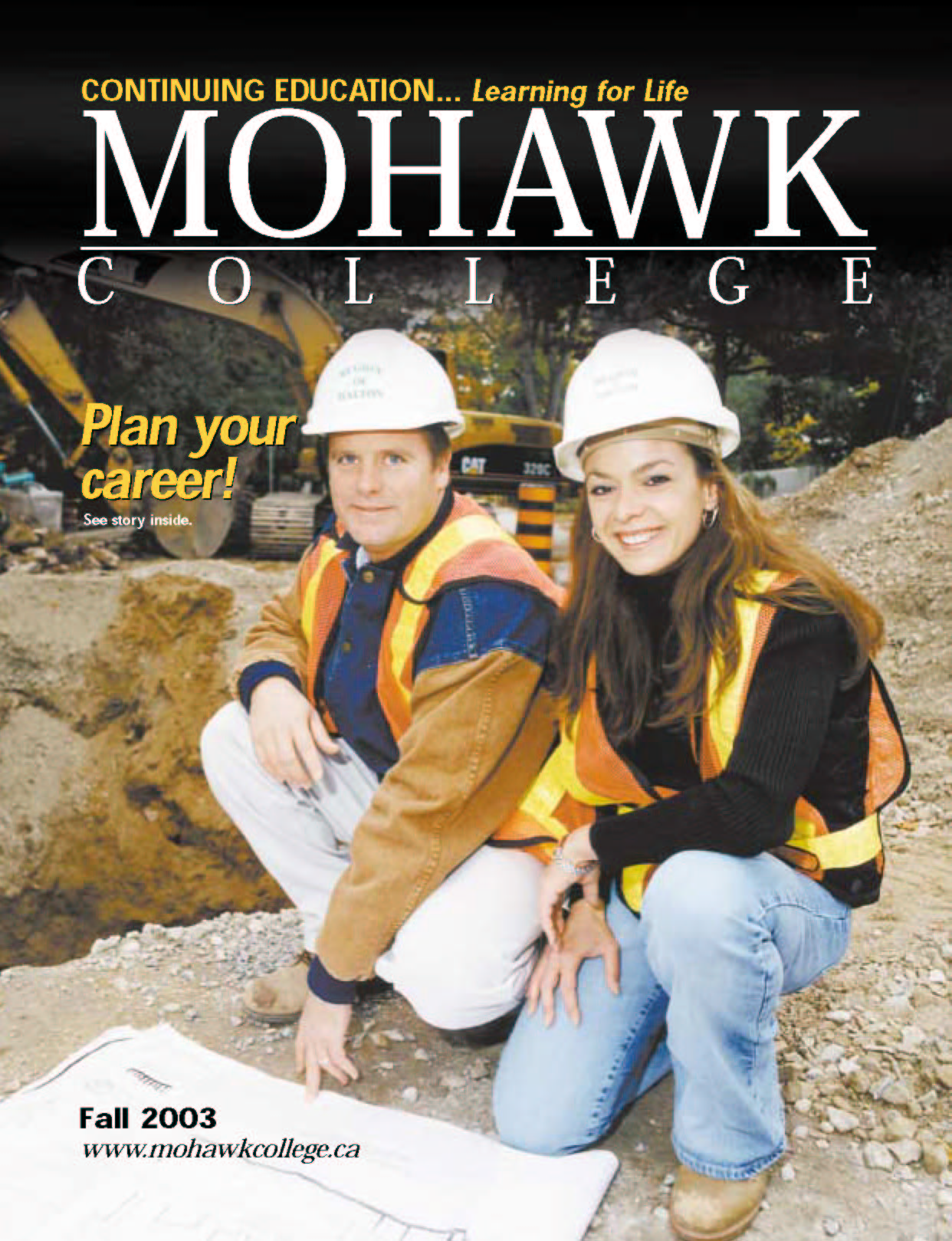 Mohawk College Continuing Education Catalogue Cover Fall 2003
