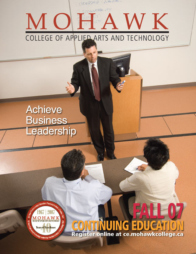 Mohawk College Continuing Education Catalogue Cover Fall 2007
