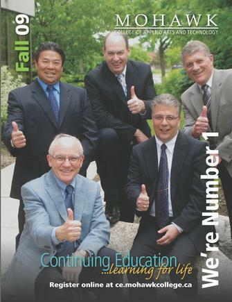 Mohawk College Continuing Education Catalogue Cover Fall 2009