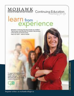Mohawk College Continuing Education Catalogue Cover Fall 2010