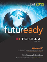 Mohawk College Continuing Education Catalogue Cover Fall 2012