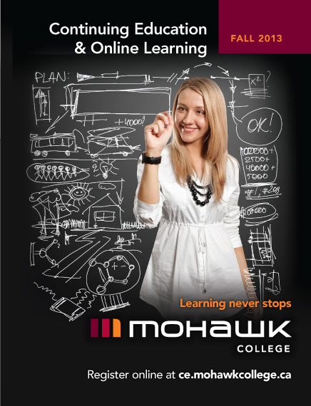 Mohawk College Continuing Education Catalogue Cover Fall 2013