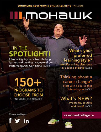 Mohawk College Continuing Education Catalogue Cover Fall 2015