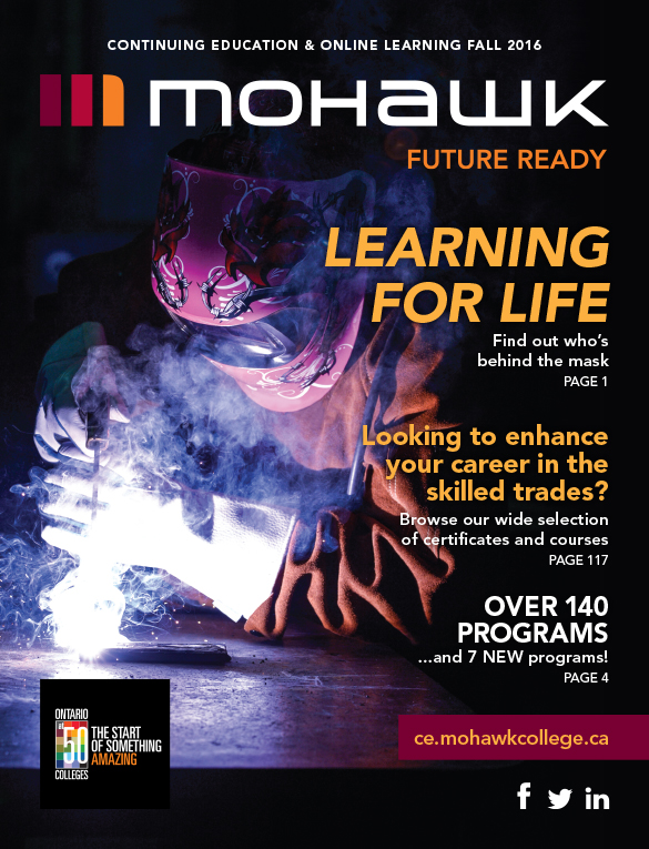 Mohawk College Continuing Education Catalogue Cover Fall 2016
