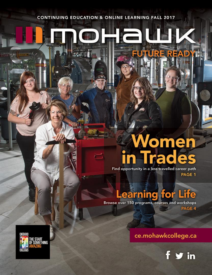 Mohawk College Continuing Education Catalogue Cover Fall 2017