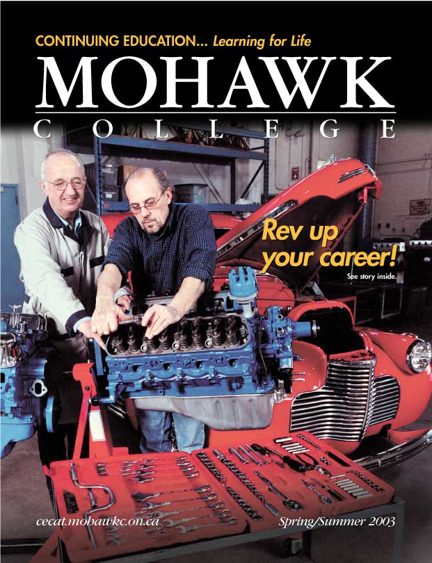 Mohawk College Continuing Education Catalogue Cover Spring 2003