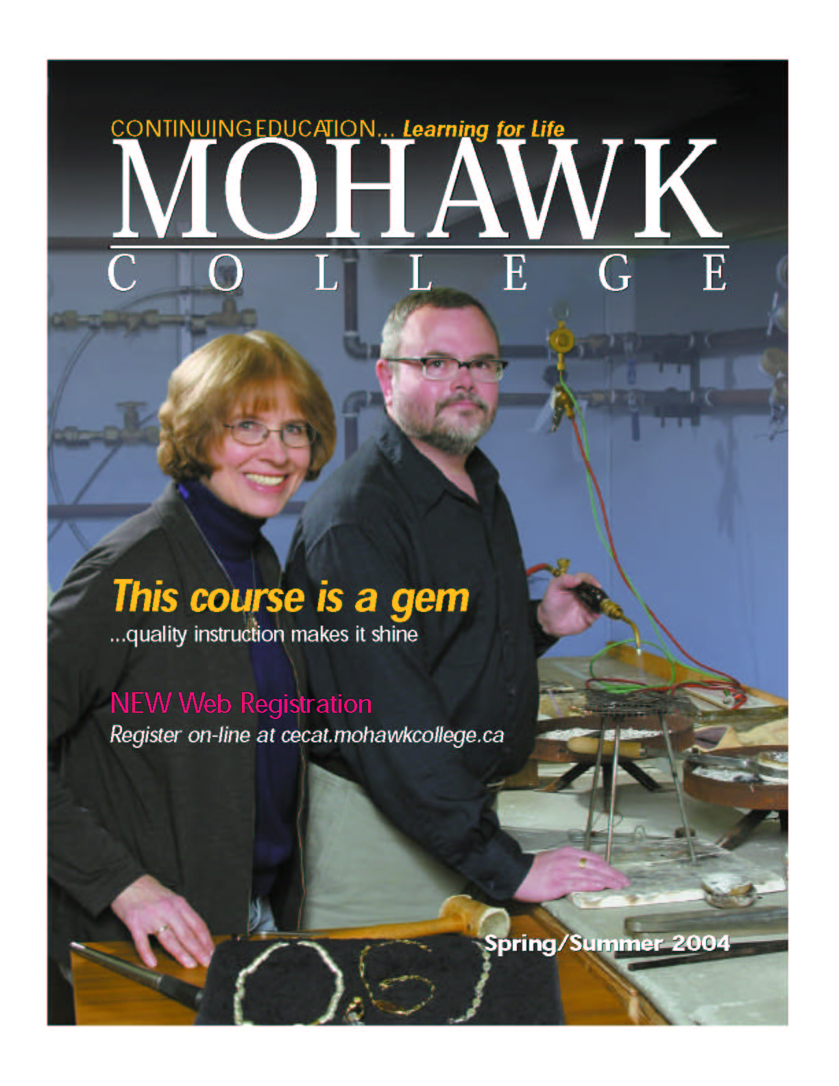 Mohawk College Continuing Education Catalogue Cover Spring 2004