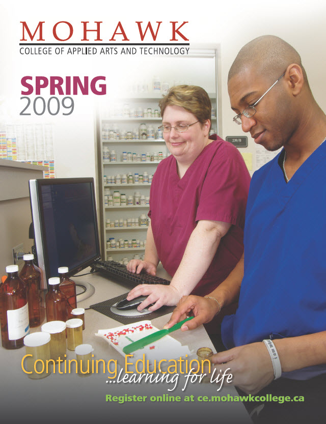 Mohawk College Continuing Education Catalogue Cover Spring 2009