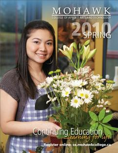 Mohawk College Continuing Education Catalogue Cover Spring 2010
