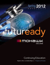 Mohawk College Continuing Education Catalogue Cover Spring 2012