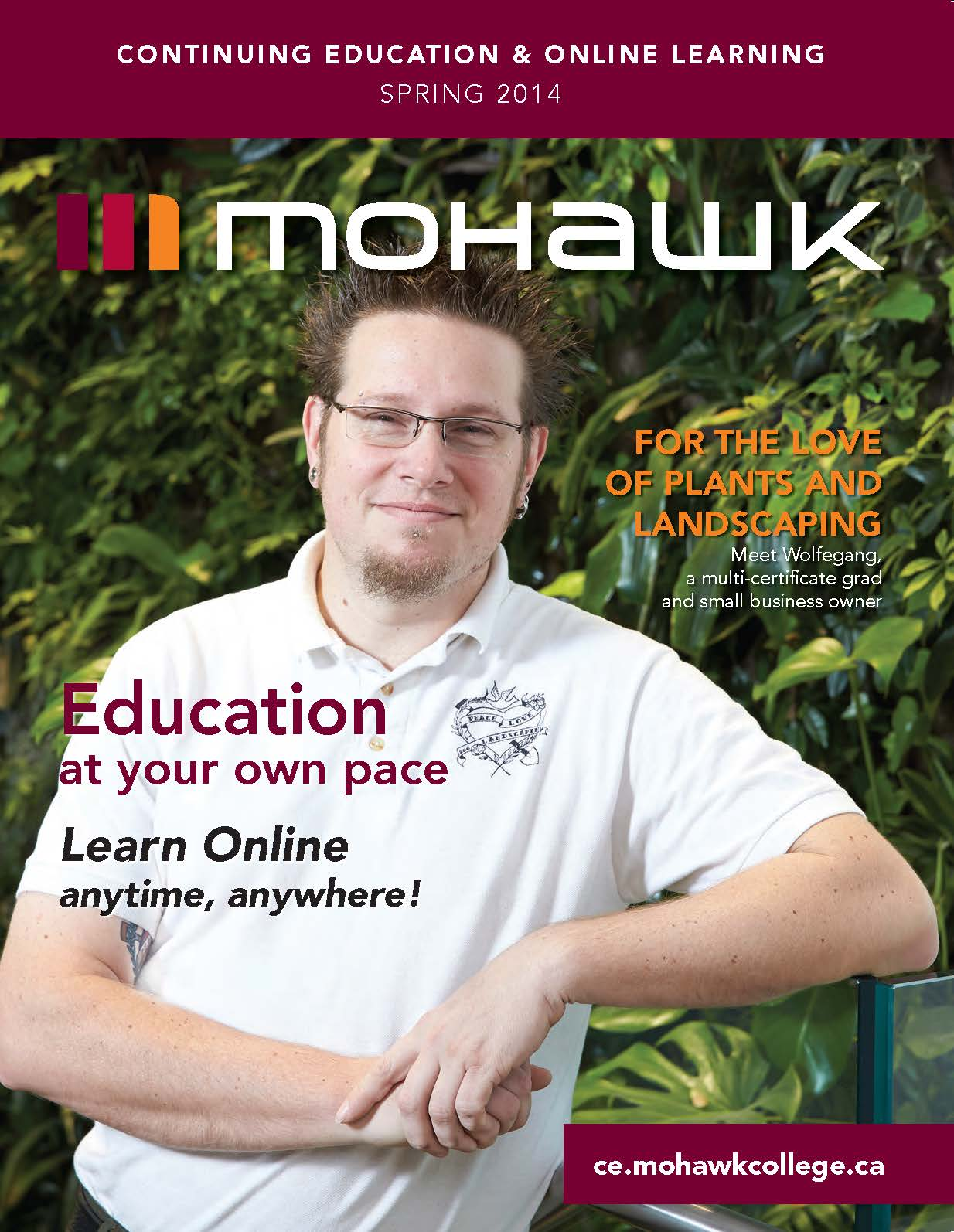 Mohawk College Continuing Education Catalogue Cover Spring 2014