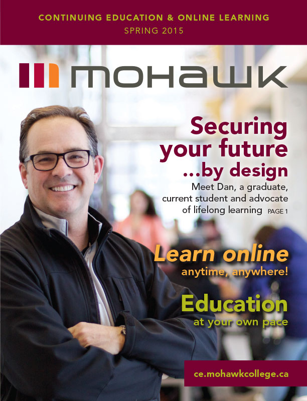 Mohawk College Continuing Education Catalogue Cover Spring 2015