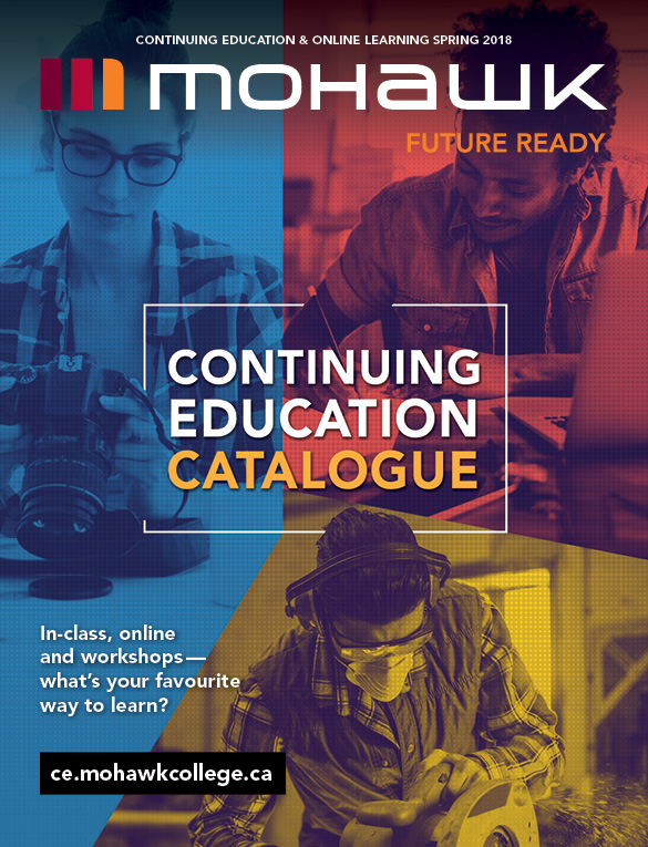 Mohawk College Continuing Education Catalogue Cover Spring 2018