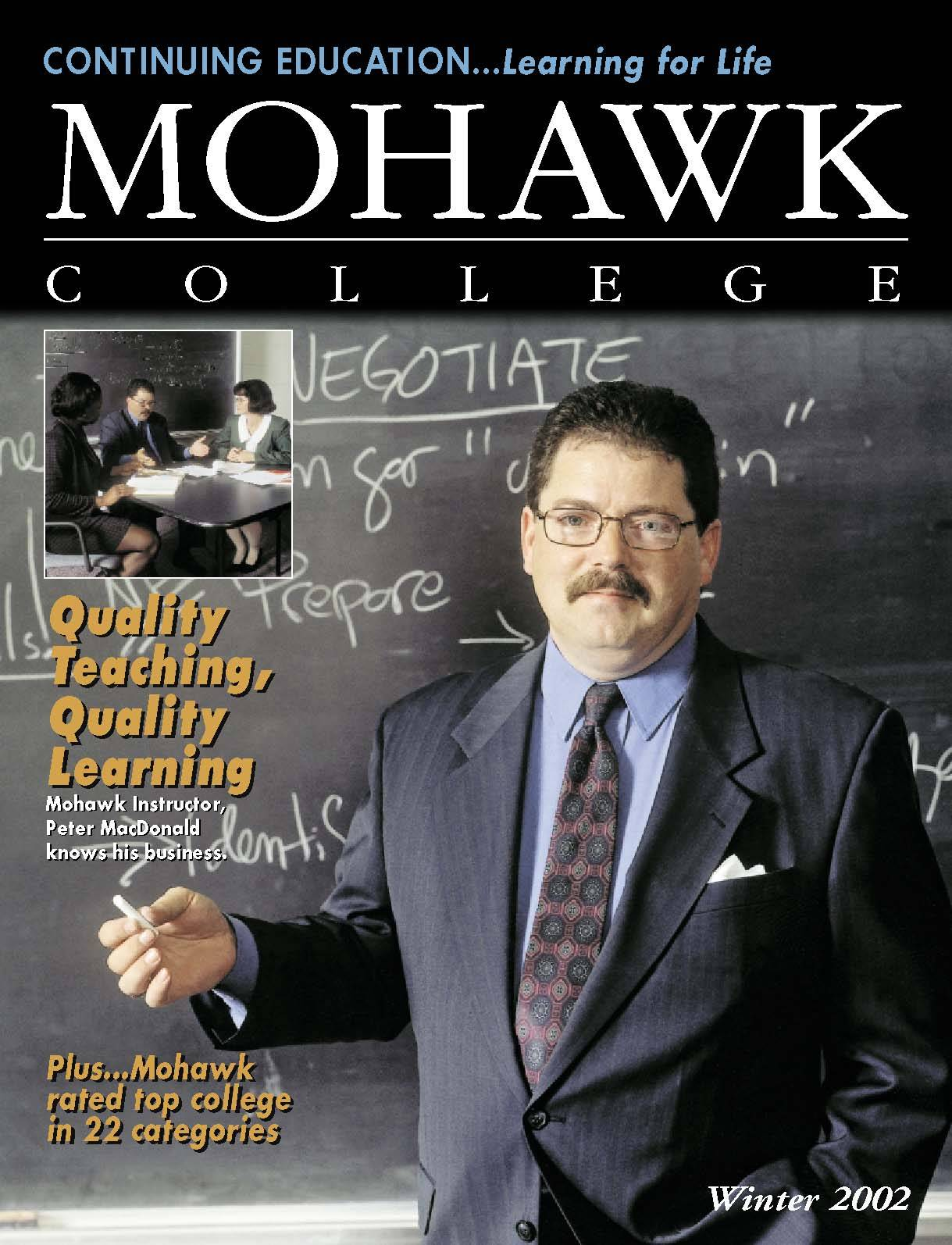 Mohawk College Continuing Education Catalogue Cover Winter 2002