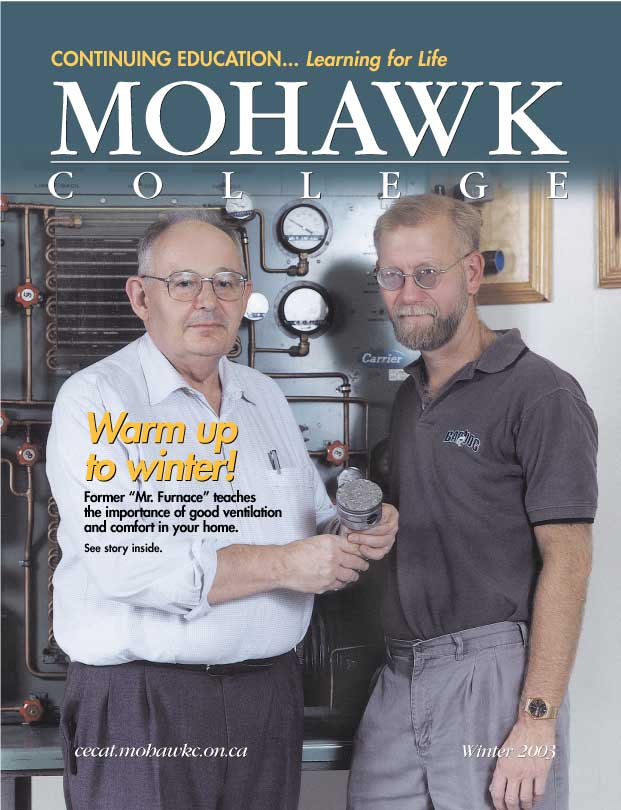 Mohawk College Continuing Education Catalogue Cover Winter 2003