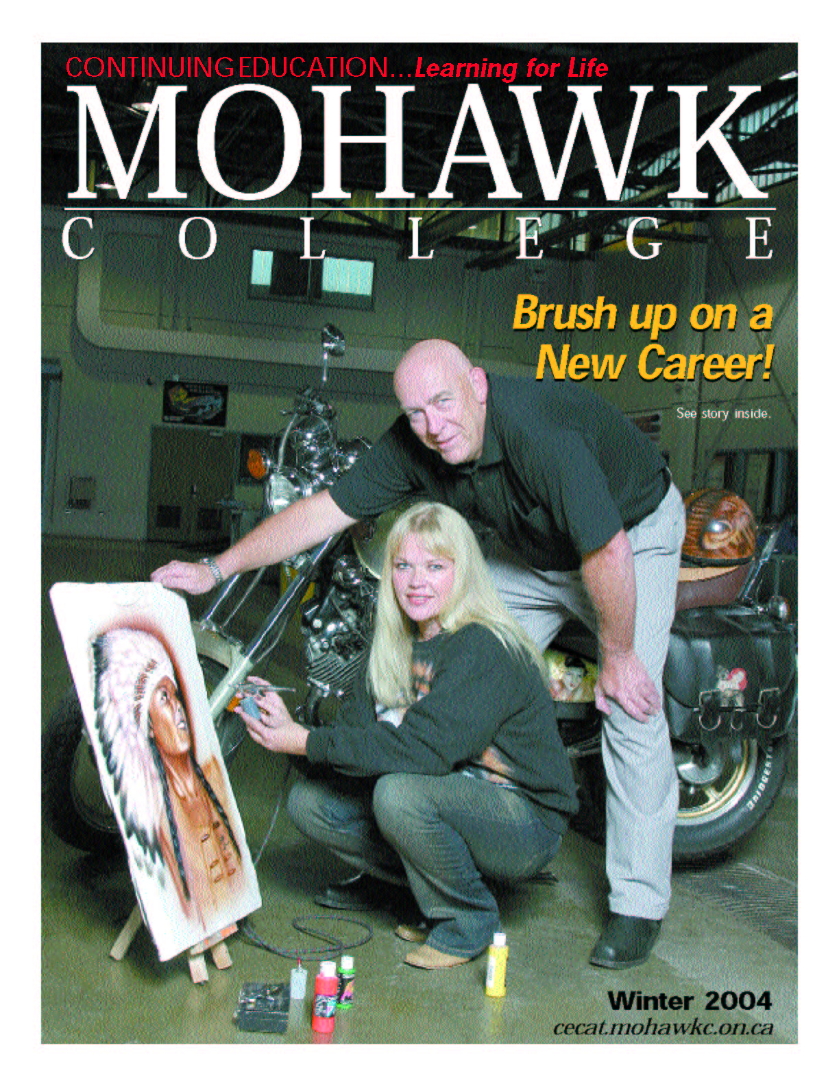Mohawk College Continuing Education Catalogue Cover Winter 2004