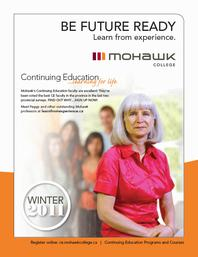 Mohawk College Continuing Education Catalogue Cover Winter 2011