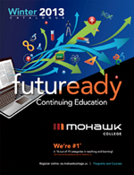 Mohawk College Continuing Education Catalogue Cover Winter 2013