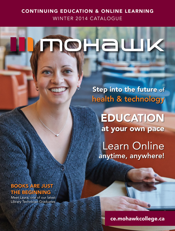 Mohawk College Continuing Education Catalogue Cover Winter 2014