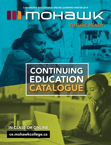 Mohawk College Continuing Education Catalogue Cover Winter 2019