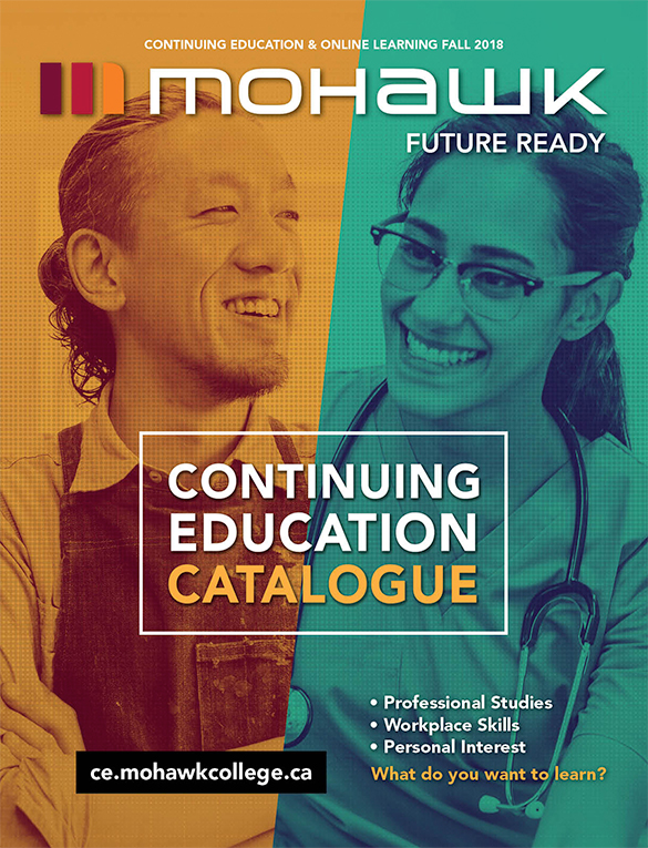 Mohawk College Continuing Education Catalogue Cover Fall 2018