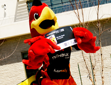 mo the hawk holding one card