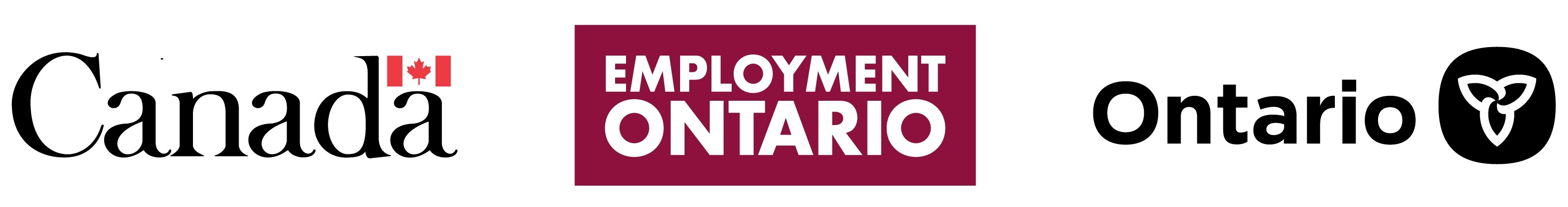 Government of Canada, Employment Ontario, and Ontario Government logos