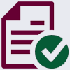 Icon of Paper and a Checkmark