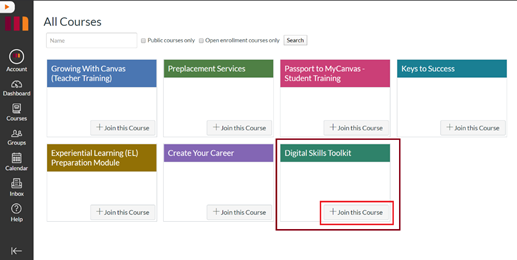 Digital Skills Toolkit Join This Course