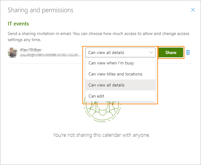 Screenshot of permission option Can View All Details