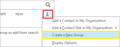 Create new group