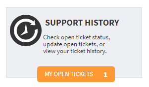 Support History link to ticket history in self-service portal