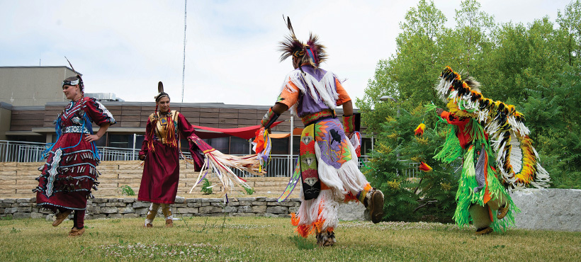 indigenous community dance at Mohawk