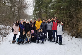 Crawford Lake with students in front
