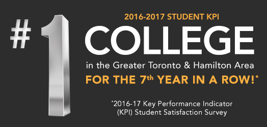 2016-2017 student kpi: #1 college in the greater toronto and hamilton area for the 7th year in a row
