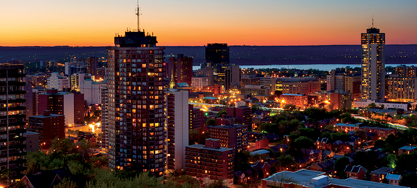 Hamilton Skyline at Night