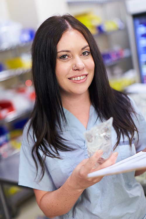 Senior Pharmacy Technician student working at Hamilton Health Sciences