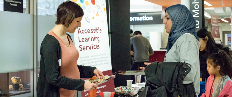Accessible Learning Services booth at Open House
