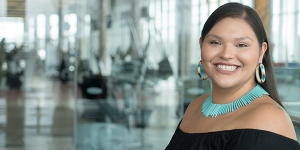 Indigenous Student smiling at Mohawk College