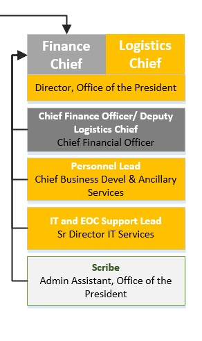 Logistics and Finance Section: Individual Roles Diagram